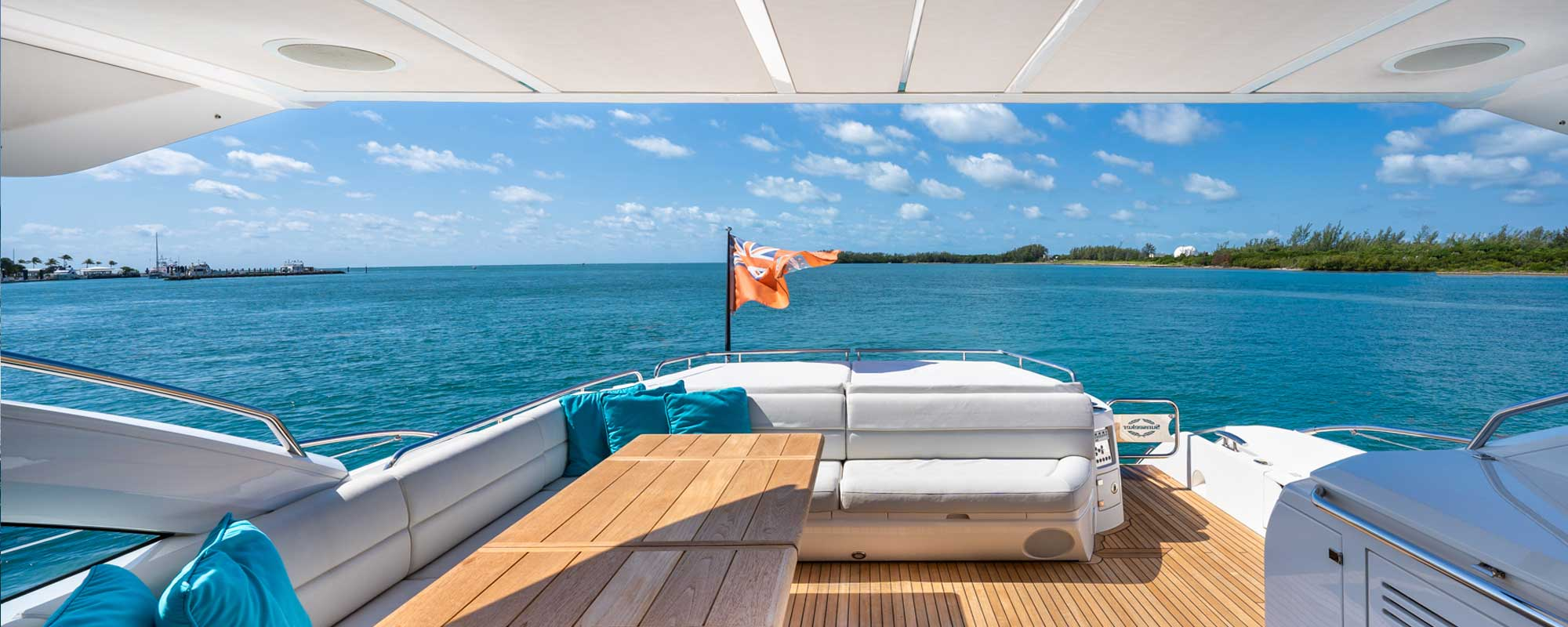 View from yacht